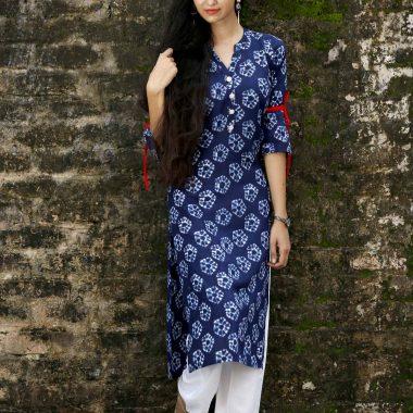 indigo print kurti producer|indigo kurtis producers in jaipur|hand block kurti producer in jaipur